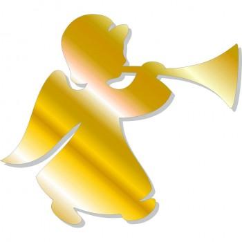 Angelo con tromba oro - 5 angeli