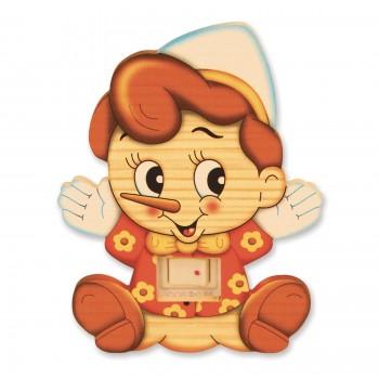 Luce Da Notte Pinocchio, misura cm. 9,5x10,5x7,5