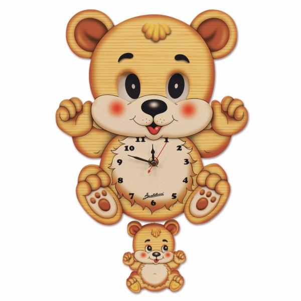 Orologio Movimento Occhi Orso, misura cm. 26x40x6,5