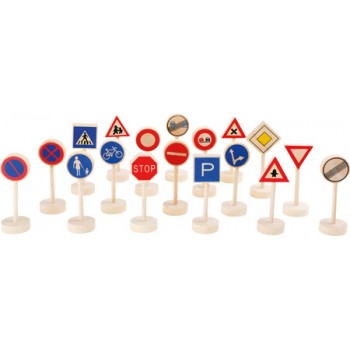 Segnali stradali, ca. 5 x 3,5 x 10 cm