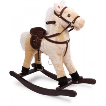 Cavallo a dondolo «Zottel», ca. 74 x 30 x 70 cm, altezza seduta ca. 47 cm, portata massima 30 kg