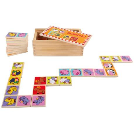 Gioco del domino Animali dello zoo, Scatola: ca. 14 x 8 x 5 cmtessera del domino ca. 6 x 3 x 0,5 cm