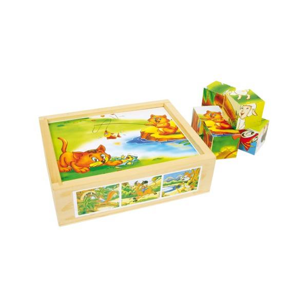 """Puzzle di dadi """"Divertimento degli animali"""", ca. 3,5 x 3,5 x 3,5 cm"""