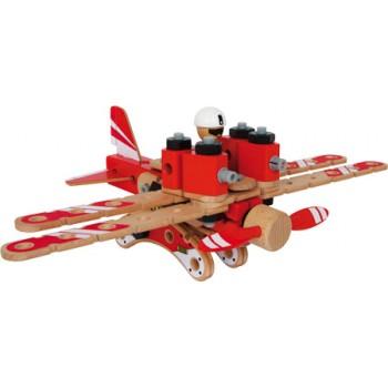 Set costruzioni Aviatore, Elicottero: ca. 28 x 9,5 x 16 cm / Aereo: ca. 25 x 39 x 13 cm