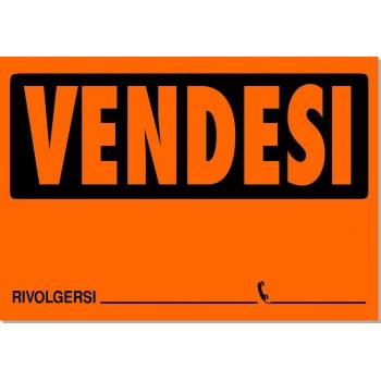 Cartello Vendesi 33x23 - 10 Cartelli - Fluo Assortiti