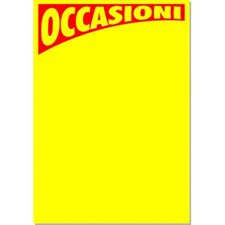 Occasioni 50x35- 5 cartelli - giallo fluo
