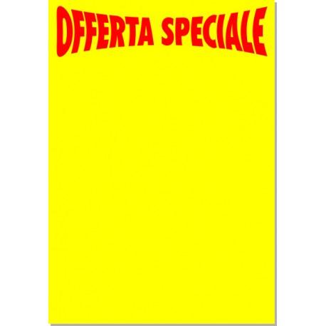 Offerta speciale 50x35 - 5 cartelli - giallo fluo
