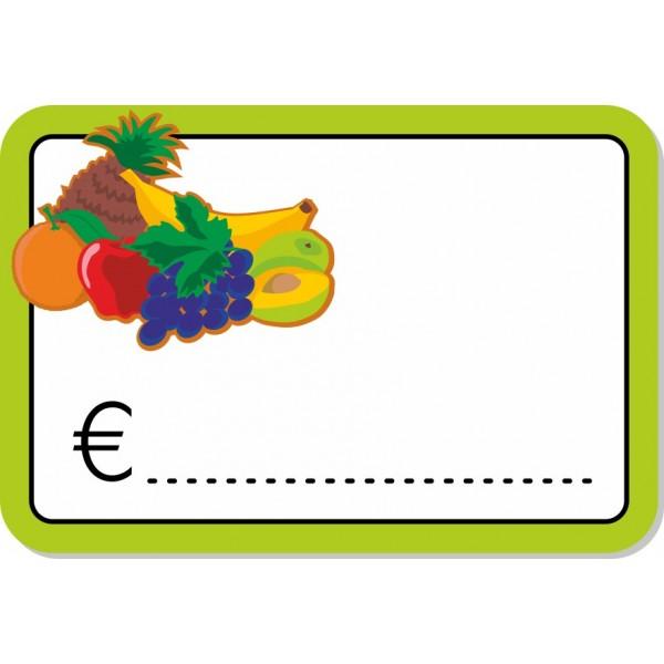 Frutta - Rettangolo 10X7 - 10 Pezzi