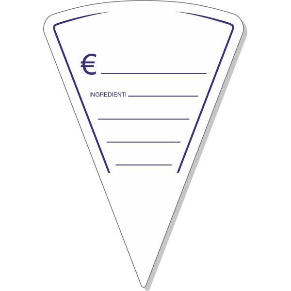 Segnaprezzo in PVC triangolo 15x10 - 10 pezzi