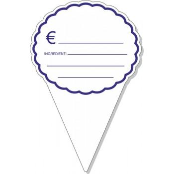 Segnaprezzo in PVC triangolo con nuvoletta 15x10 - 10 pezzi