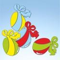 Vetrofania pasquale Uova di cioccolato, misura cm. 80x70