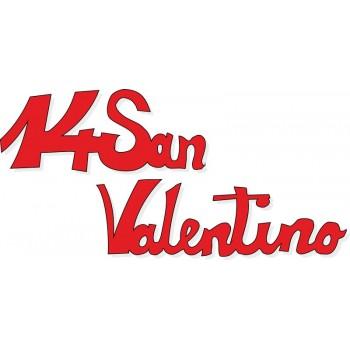 Scritta stagionale vetrofanie 14 san valentino rossa, misura cm. 45x25