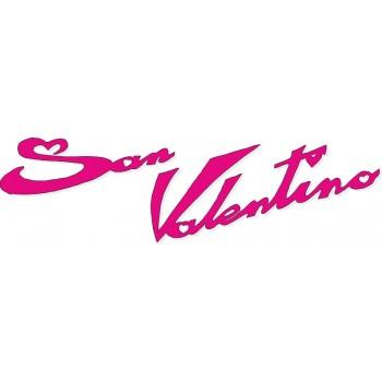 Scritta stagionale vetrofanie san valentino fucsia, misura cm. 60x20
