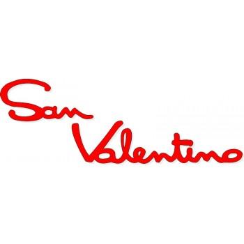 Scritta stagionale vetrofanie san valentino rossa, misura cm. 65x25