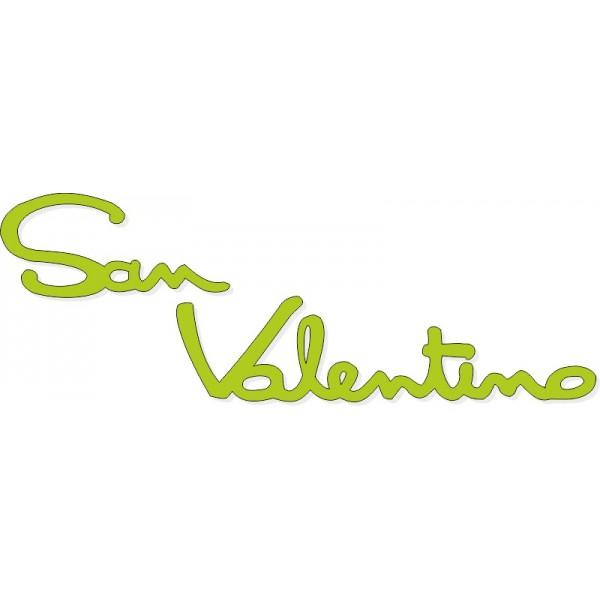 Scritta stagionale vetrofanie san valentino verde, misura cm. 65x25