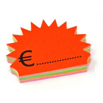 Flash + Euro - 50 Segnaprezzi - Fluo Assortiti