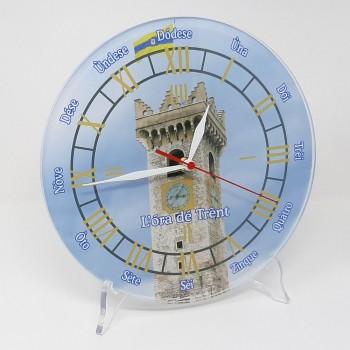 """Orologio da muro """"Ora de Trent"""" Torre Civica rotondo, in plexiglass diametro cm 25, sp. 8 mm"""