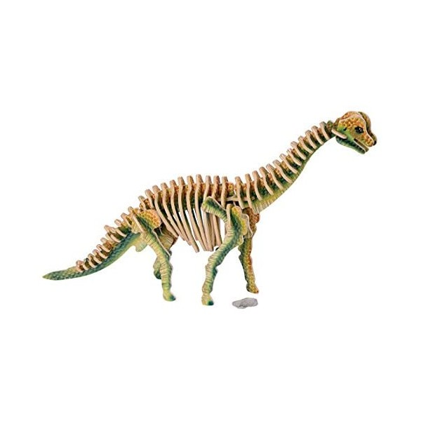 Puzzle legno brachiosauro, gioco di montaggio ad incastro cm 34x7x24