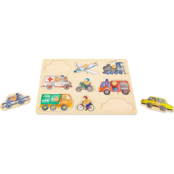 Puzzle veicoli della città, in legno misura circa cm. 30x22x1,5